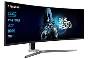 """Samsung LC49HG90DMUXEN 49"""" Curved 1ms Ultra Wide 144Hz Monitor Black £599.99 Amazon Prime Day Deal"""