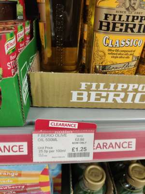 Filippo Berio olive oil 500ml £1.25 / Pizza express house dressing £1.35 / Dolmio sauces 45p RTC @ Coop Panmuirfield
