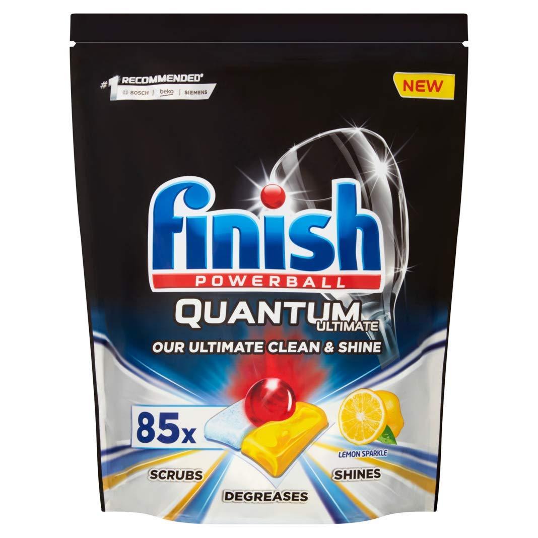 Finish Quantum Ultimate Dishwasher Tablets, Lemon Scent - 85 Tabs £11.99 Amazon Prime Day Deal