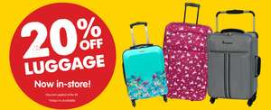20% off luggage in-store @ B&M