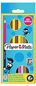 Paper Mate Dual-Ended Colouring Pencils pack of 12 (=24 colours) 79p @ Home Bargains