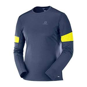 Salomon Men's Long Sleeved Sport T-Shirt, AGILE LS TEE, Synthetic Blend - £13.60 - £82.16 @ Amazon