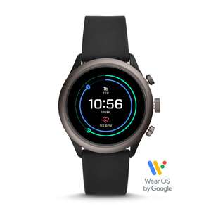 Fossil Sport Smartwatch - 43mm Black Silicone £152.15 Fossil - Use discount code FIT40 (£40off) + sign up for newsletter for 15%off code