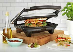 Cookworks 2 Portion Stainless Steel Panini Grill - £7.99 @ Argos