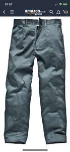 "Dickies TR41500 GR 42S Size 28 ""Reaper"" Trousers - Green £2.40 Amazon add on item"