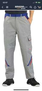 """Planam 2323058 Size 58 """"Highline"""" Trousers - Zinc/Royal Blue/Red £2.65 Amazon add on item"""
