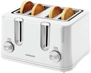 Cookworks 4 Slice Toaster - White - £11.99 @ Argos
