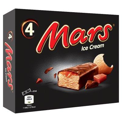 Mars / snickers 4 pk ice cream, waitrose @ £1.33