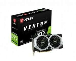 MSI GeForce RTX 2060 VENTUS 6GB OC Graphics Card - £281.81 @ eBay / Ebuyer using code