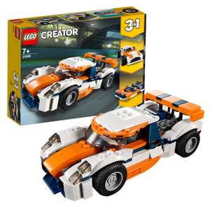 LEGO 31089 Creator 3-in-1 Sunset Track Racer £9.99 @ Amazon (+£4.49 non Prime)