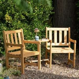 Rowlinson Wooden Garden  2 Seater Companion Seat £54.99 w/code + Free delivery @ JTF