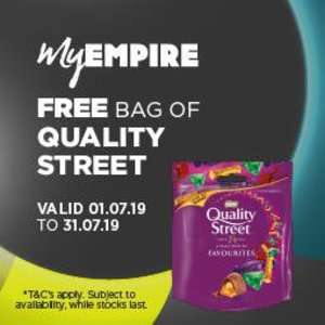Free bag of Quality Streets with Printed Voucher @ Empire Cinema with ticket purchase