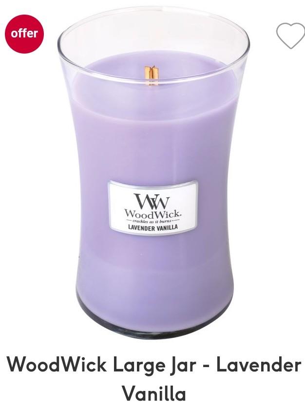 WoodWick LARGE Jar - Lavender Vanilla £10 @ Boots