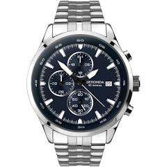 Sekonda Men's Dual-Time Stainless Steel Bracelet Watch £44.99 @ H. Samuel - (Free C&C) Plus receive a voucher code for £25 off a £75 spend