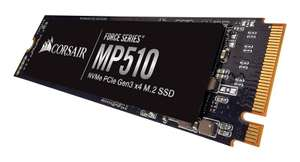 Corsair Force MP510 960GB M.2 SSD 3,480MB/s Seq. Read 3,000MB/s Seq. Write for £119.20 Delivered @ Ebuyer
