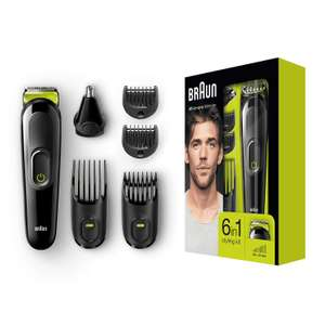 Braun 6-in-1 All-in-one Trimmer MGK3021, Beard Trimmer and Hair Clipper, Ear and Nose Trimmer - £14.99 (Prime) + £4.49 (non Prime) at Amazon