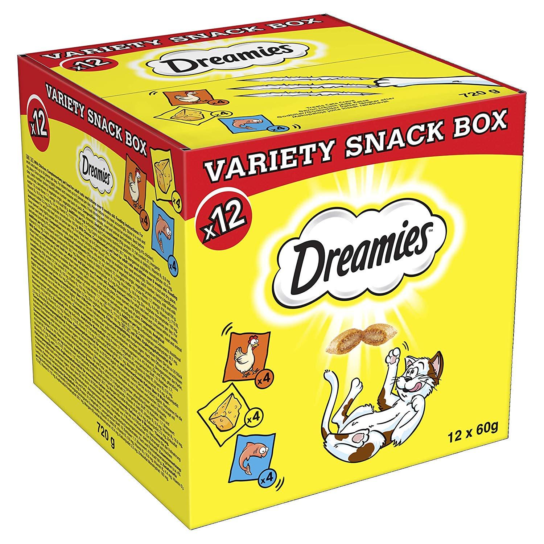 Dreamies cat treats 12 x 60g snack box £8.98 @ Amazon Pantry (£3.99 P&P)