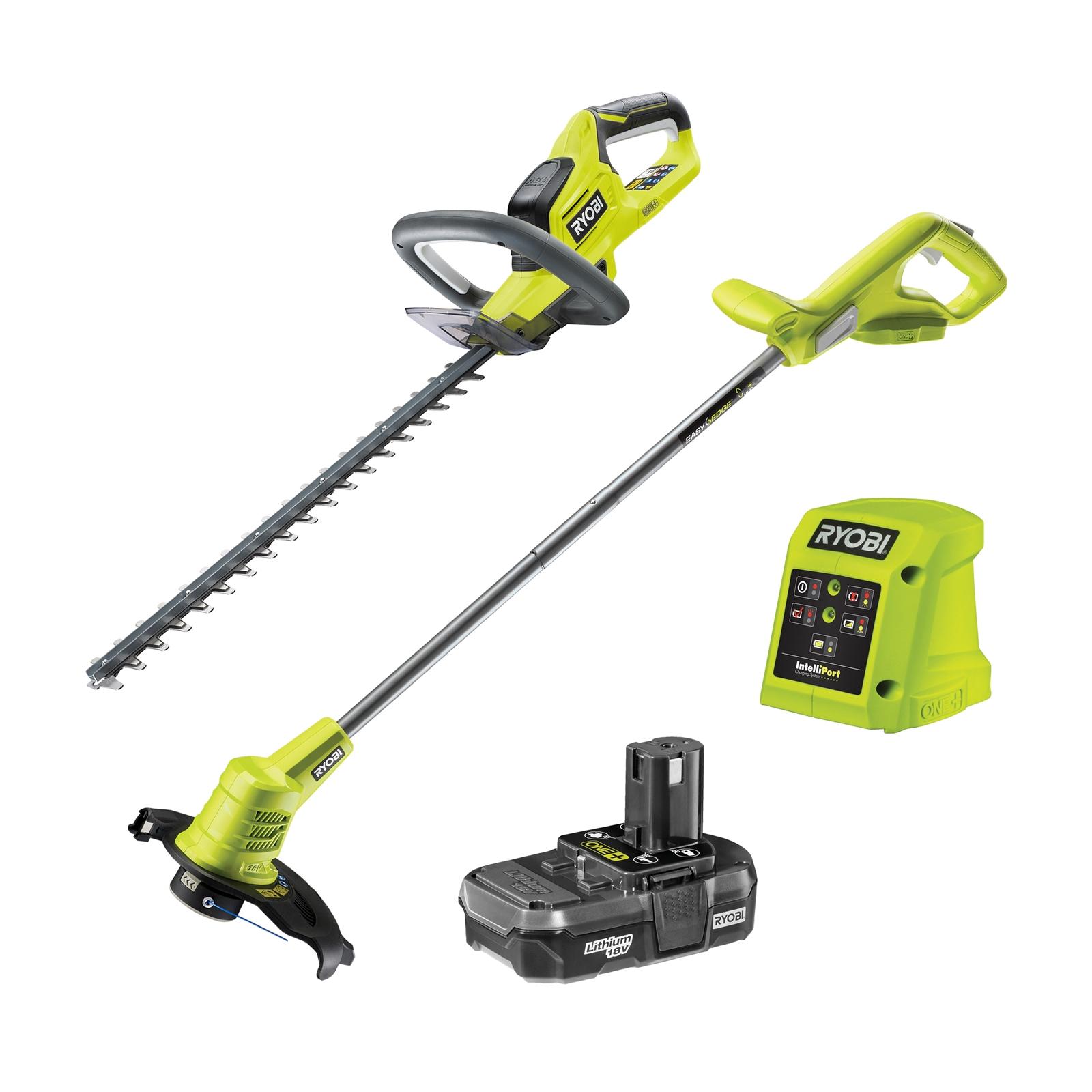 RYOBI ONE+ 18V Hedge Trimmer & Line Trimmer Kit £77 @ Homebase