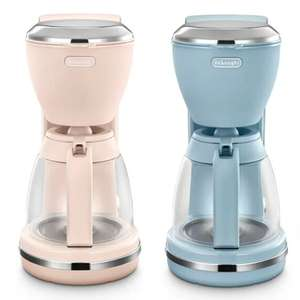 De'Longhi Argento Flora Filter 1000W Coffee Maker In Azure Blue or Pink £24 with code @ eBay / delonghiuk
