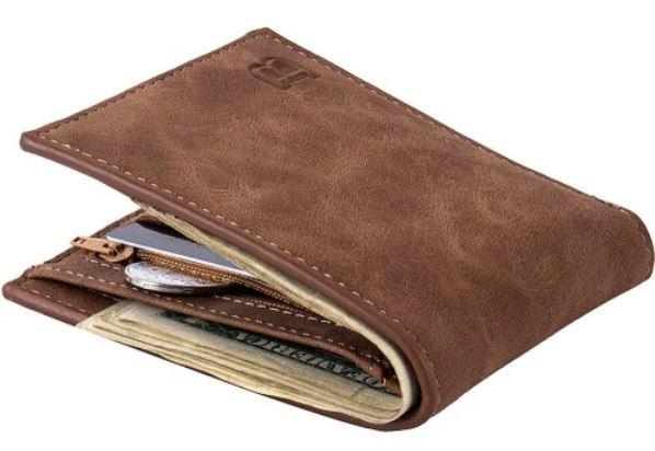 Men Fashion Leisure Business Leather Bifold Wallet - Coffee - £3.24 @ Gearbest