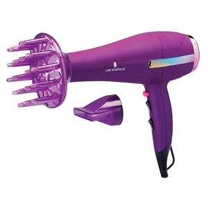 Lee Stafford Rainbow Shine 2200W Hair Dryer with Concentrator  & Diffuser -  £14.99 Delivered @ Superdrug (Online only) - 3 Year Guarantee