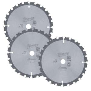 Milwaukee 4932352313 165mm 24T Circular Saw Blades - 3 for £26.21 with code  @ eBay / folkestonefixings