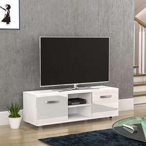 Cosmo LED TV Stand 2 Door Matte Gloss White or Black 120cm £43.96 / 140cm £56 / 160cm £59 delivered with code @ Homediscountltd ebay