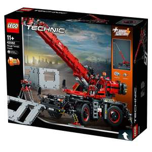 Lego 42082 LEGO 42082 Technic Rough Terrain Crane 2 in 1 Mobile Pile Driver Heavy Duty Truck with Power Functions Motor Set £50 @ Amazon