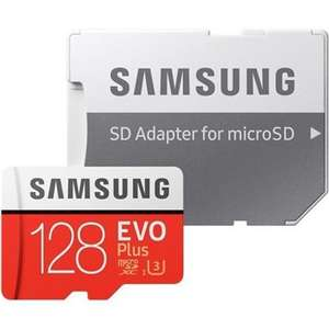 Samsung EVO PLUS 128GB MicroSDXC Memory Card with SD Adapter for £19.28 Delivered @ BOX