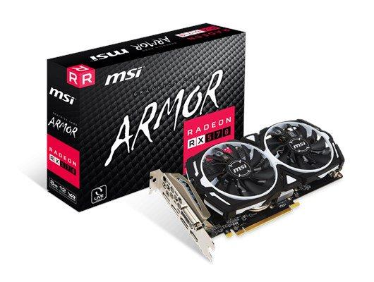 MSI Radeon RX 570 ARMOR 8GB GPU £134.99 @ CCL