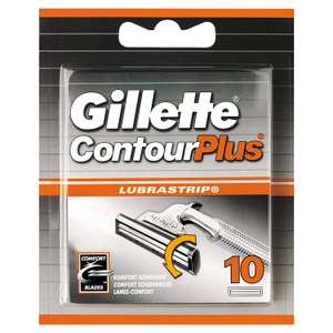 Gillette Contour Plus, Pack of 10, £2.25 (Min spend £15, p&p £3.99) at Amazon Pantry