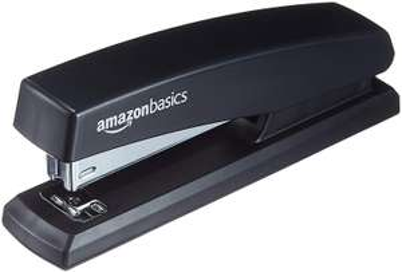 AmazonBasics Stapler with 1000 Staples | Black (12 Staplers Pack) £11.96 Delivered (+£4.49 Non-Prime) @ Amazon