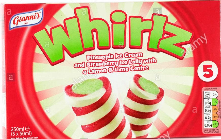 Aldi Gianni's Whirlz Ice Cream Lollies 5 Pack 79p @ Aldi