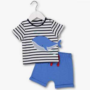 Multicoloured Whale Top & Short 2 Piece Set Half Price now £3.50 C&C @ Argos