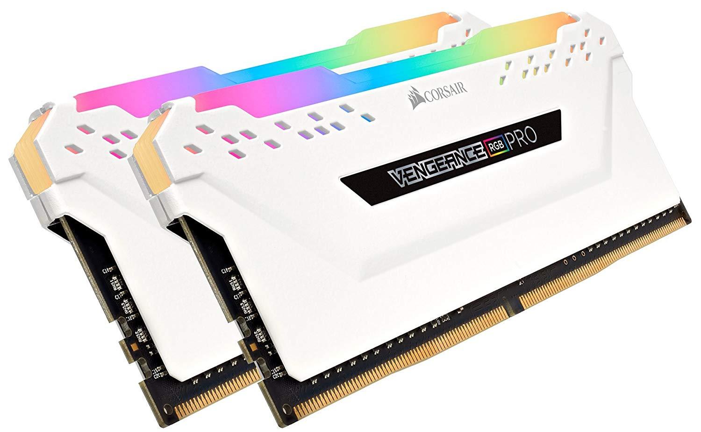 Corsair Vengeance RGB PRO 32 GB (2 x 16 GB) DDR4 3000 MHz C15 XMP 2.0 Enthusiast RGB LED Illuminated Memory Kit - White @ Amazon £135.99