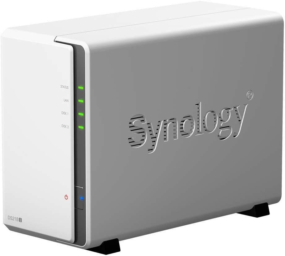 Synology DS218j 2 Bay Desktop NAS Enclosure @ Amazon £138. 99