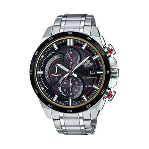Casio Edifice Solar Stainless Steel Double Dial Bracelet Watch £89.99 at H.Samuel