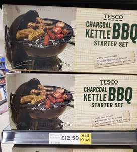 Tesco charcoal kettle BBQ instore for £12.50