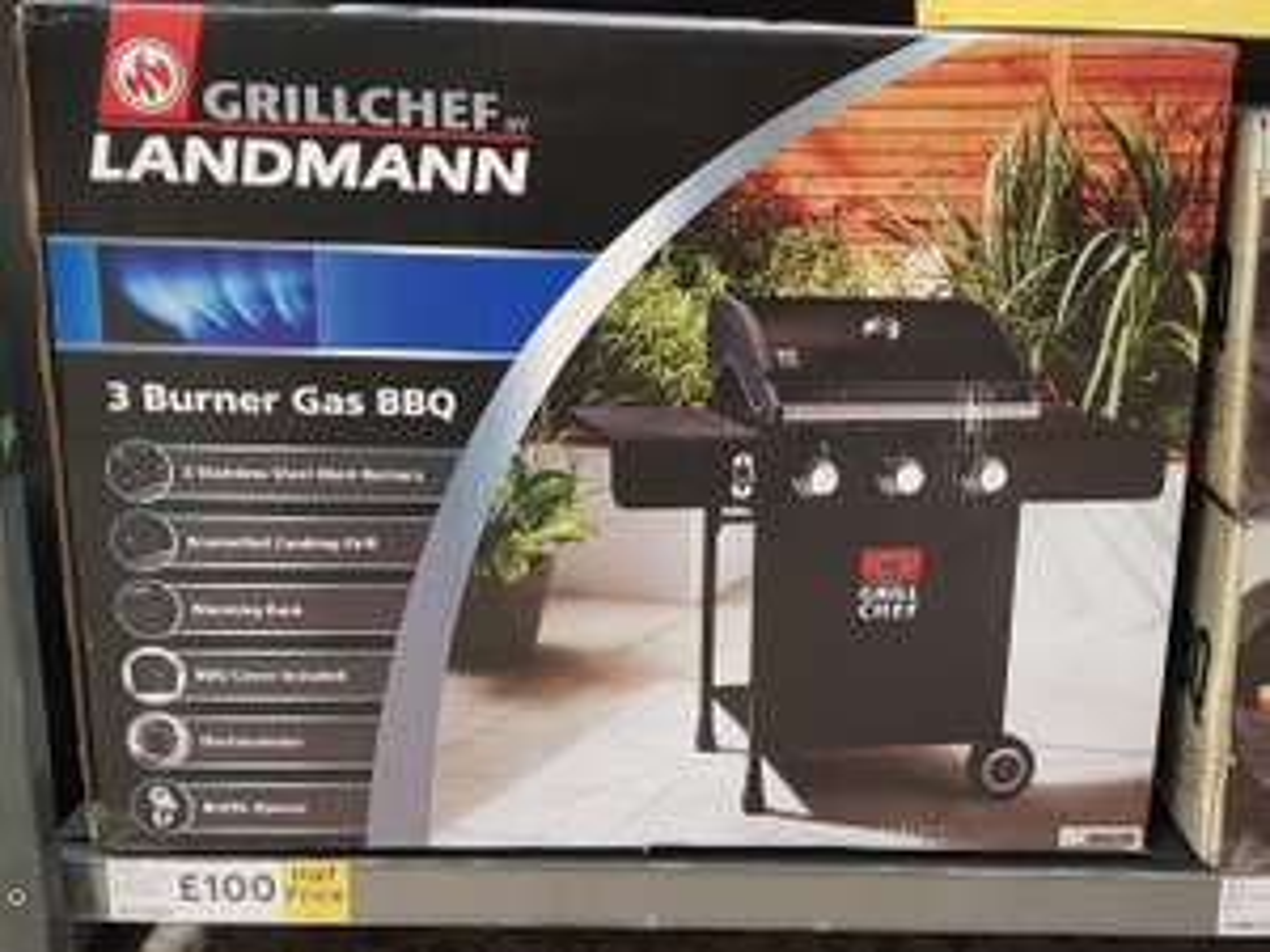 Landmann Grill Chef 3 Burner Gas BBQ instore at Tesco for £100