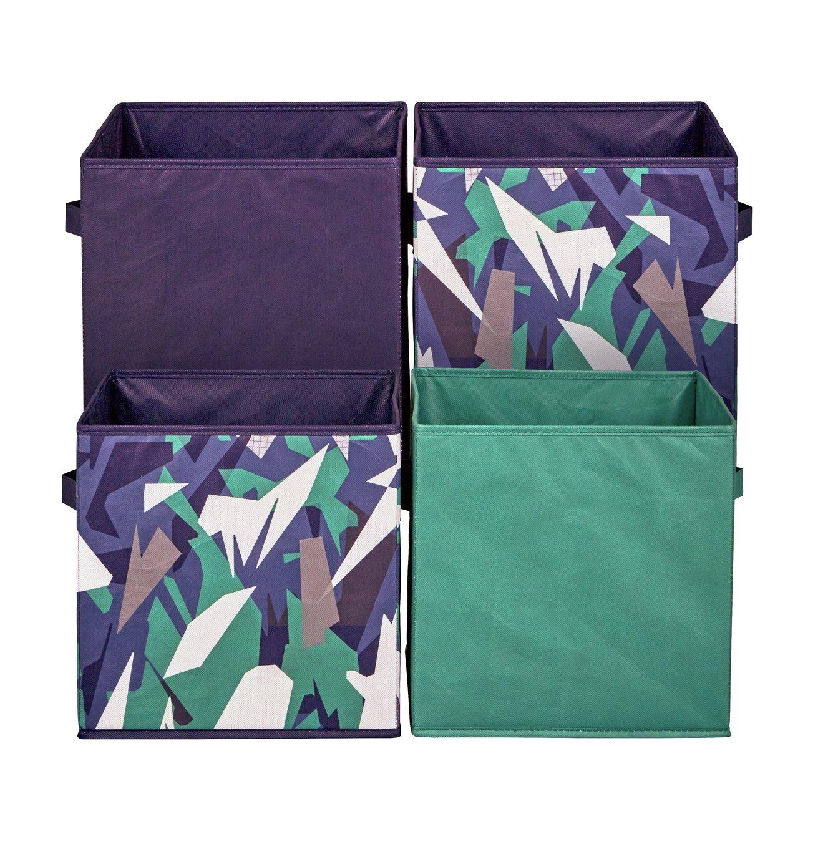 4x Canvas storage boxes - purple camo - £7.49 @ Argos (Free C&C)