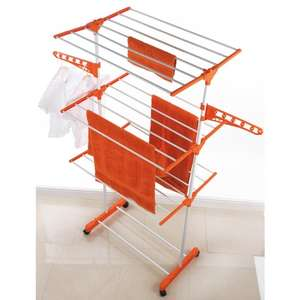 Beldray Deluxe 3 Tier Upright Airer with Wheels instore at B&M for £1