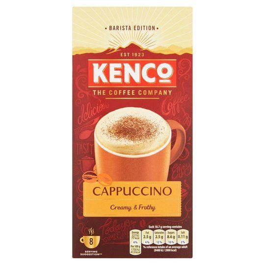 Kenco Cappuccino Coffee 8 Sachets 149G at Tesco for £1.25