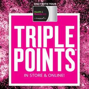 Superdrug Treat Thursday - Triple Points Today Only Instore and Online!
