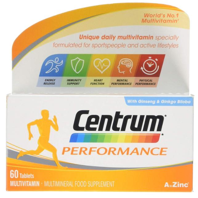 Centrum Performance - Pack of 60 - £5.70 (Prime) £10.19 (Non Prime) @ Amazon