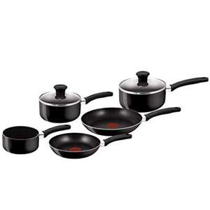 Tefal 5 Piece, Essential, Pots and Pans Set, Black, Aluminium, Non Stick £25.99 Delivered @ Amazon