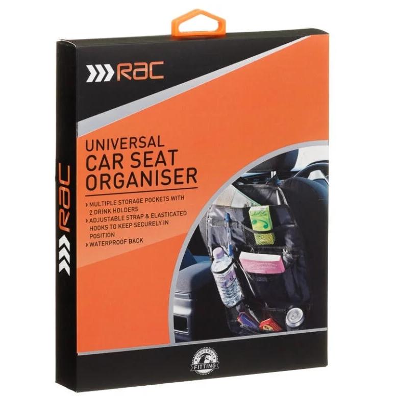 RAC Universal Car Seat Organiser for £1 @ B&M