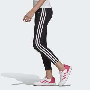 adidas Essentials Girls 3-Stripes Leggings (2 styles) now £12.71 with code + Free C&C @ adidas