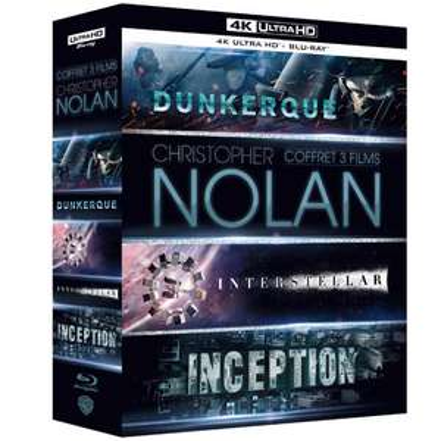 Christopher Nolan 4K Movie Box Set(Dunkirk, Interstellar & Inception) £24.18 (£22.75 w/fee free card) Delivered @ Amazon France
