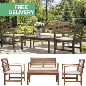 Rowlinson Oslo Hardwood 4 Seater Sofa  & Table Set £168.80 with code + Free Delivery @ JTF