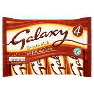 Galaxy Milk Chocolate 4x 42g Multipack ( Twirl/Aero/Mars/Picnic/Caramel/Boost - Etc ) £1 @ Morrisons